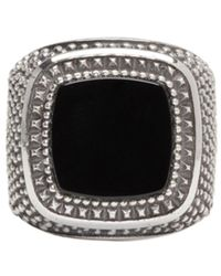 Emanuele Bicocchi | Metallic Silver Square Stone Ring for Men | Lyst