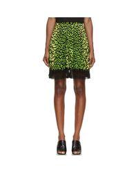 Christopher Kane - Green & Black Animal Spot Skirt - Lyst
