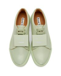 Acne - Green Adriana Leather Sneakers - Lyst