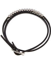 McQ Alexander McQueen - Black Bullet Mini Wrap Bracelet - Lyst