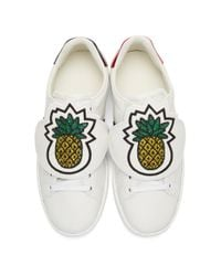 Gucci - White Pineapple Ace Sneakers - Lyst