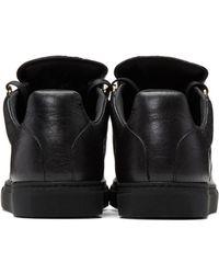 Balenciaga - Women's Arena Leather Sneaker Shoes Black - Lyst