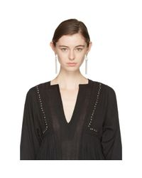 Isabel Marant - Metallic Silver Tube Earrings - Lyst
