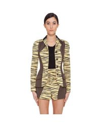 Proenza Schouler | Yellow Tiger Print Jacket | Lyst