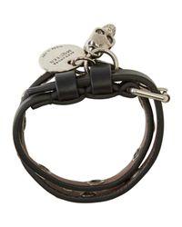 Alexander McQueen | Black & Silver Double Wrap Skull Bracelet | Lyst