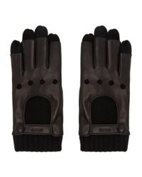 Gucci - Black Layered Driving Gloves for Men - Lyst