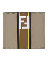 Fendi - Multicolor Taupe Forever Wallet for Men - Lyst