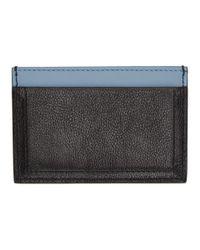 Prada - Black And Blue Etiquette Card Holder - Lyst