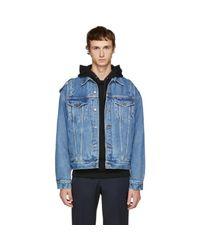 Moschino - Blue Indigo Denim Jacket for Men - Lyst