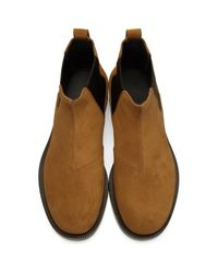 Loewe - Brown Tan Suede Chelsea Boots for Men - Lyst