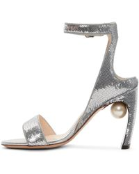 Nicholas Kirkwood - Metallic Silver Sequin Lola Pearl Sandals - Lyst