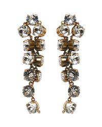 Balenciaga | Metallic Gold Twist Earrings | Lyst