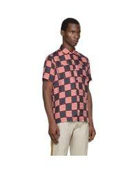Palm Angels | Multicolor Tricolor Silk Flag Shirt for Men | Lyst