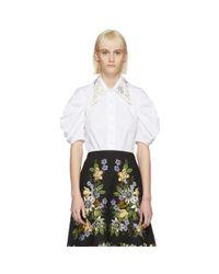 Erdem - White Ria Shirt - Lyst