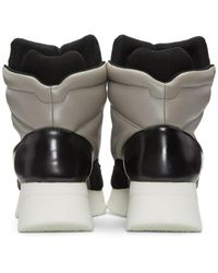 Julius Multicolor Taupe & Black Leather High-top Sneakers for men
