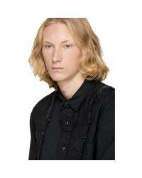 Sacai Black Denim Shirt for men