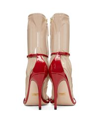 Gucci - Red Ilse Naked Sock Sandals - Lyst