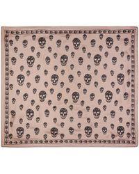 Alexander McQueen - Pink Silk Skull Scarf - Lyst