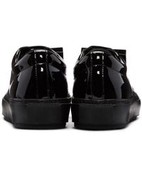 Acne - Black Adriana Leather Sneakers - Lyst