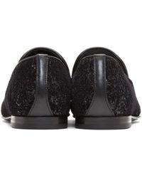 Jimmy Choo | Black Velvet Glitter Devore Sloane Loafers for Men | Lyst