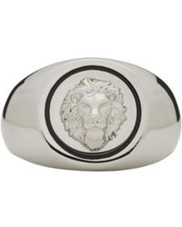 Versus  | Metallic Silver Lion Head Ring for Men | Lyst