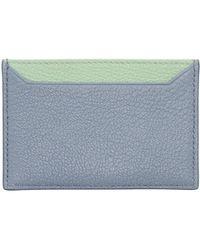 Miu Miu - Blue And Green Colorblock Card Holder - Lyst