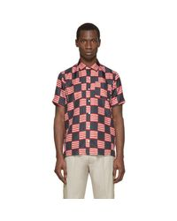 Palm Angels - Multicolor Tricolor Silk Flag Shirt for Men - Lyst