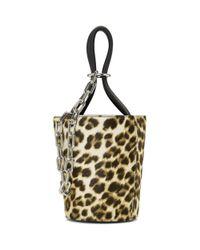 Alexander Wang - Metallic Multicolor Leopard Mini Roxy Bucket Bag - Lyst