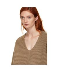 Acne - Brown Wool Deborah Sweater - Lyst