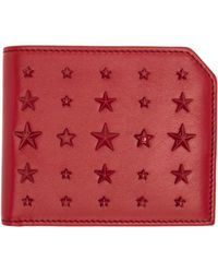 Jimmy Choo - Red Mixed Stars Albany Wallet for Men - Lyst