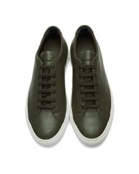 Common Projects - Green And White Original Achilles Low Premium Sneakers for Men - Lyst