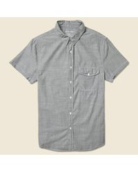 Save Khaki | Gray Chambray Workshirt - Charcoal for Men | Lyst