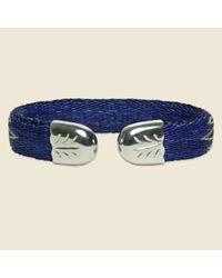 Chamula - Bendable Horsehair Bracelet - Blue/ivory for Men - Lyst