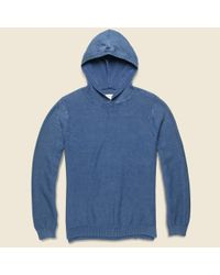 Life After Denim | Awash Knit Hoodie - Dark Blue for Men | Lyst