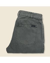 Faherty Brand Gray Canvas Jean - Charcoal for men