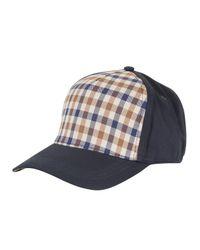 Aquascutum Blue Kiril Cap for men