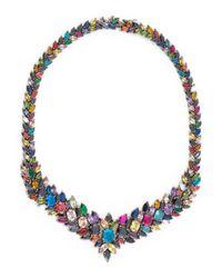 Iosselliani - Blue Mandala Multicolor Stone Necklace - Lyst