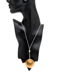 Ted Muehling - Metallic Gold Clam Pendant Necklace - Lyst
