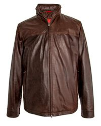 Isaia | Brown Chocolate Vintage Leather Jacket for Men | Lyst