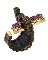 Gaelle Khouri - Multicolor Crosspath Ring - Lyst