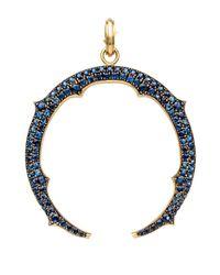 Sylva & Cie | Blue Sapphire Horseshoe Pendant | Lyst