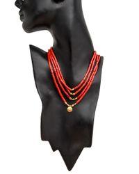 Darlene De Sedle - Multicolor 4 Strand Coral Necklace - Lyst
