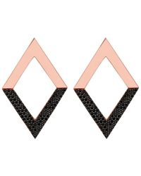 Nickho Rey | Brown Diamond Dipped Earrings | Lyst