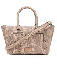 Valentino | Multicolor Light Rose Python Demilune Double Handle Bag | Lyst