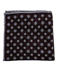 Eleventy - Multicolor Bordeaux Medallion Pocket Square for Men - Lyst