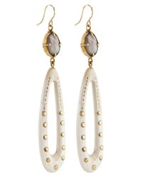 Ashley Pittman | Metallic Light Horn Shimo Drop Earrings | Lyst