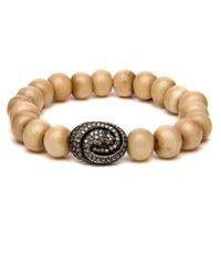 Loree Rodkin - Multicolor Bone Bead Snake Swirl Bracelet - Lyst