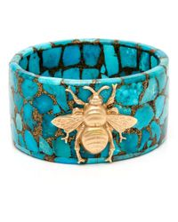 Silvia Furmanovich   Blue Turquoise Mosaic Bee Bangle   Lyst