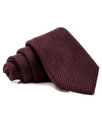 Kiton - Brown Chocolate Dotted Tie for Men - Lyst