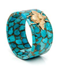 Silvia Furmanovich - Blue Turquoise Mosaic Bee Bangle - Lyst